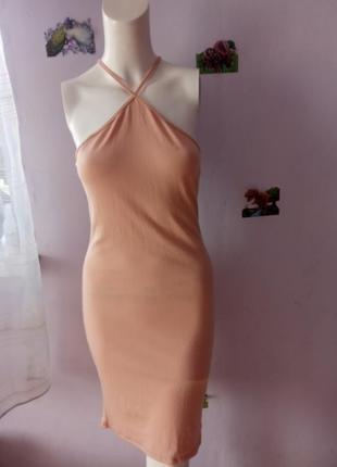 Бежева сукня