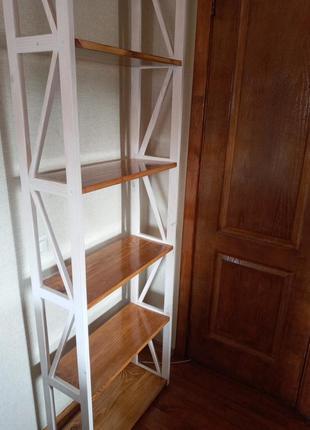 Стеллаж, полка, этажерка в стиле прованс из натурального дерева