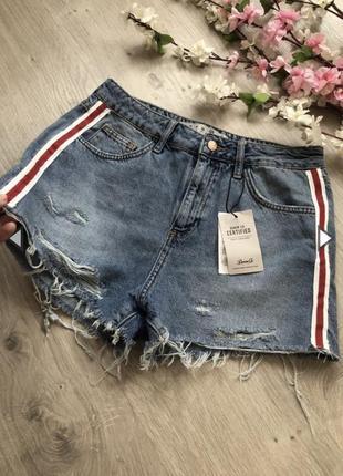 Стильные джинсовые шорты, рваные шорты