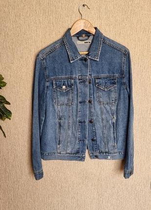 Крутой джинсовый пиджак, жакет, джинсовка от topshop , оригинал