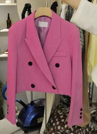 Стильный укороченый блейзер жакет пиджак