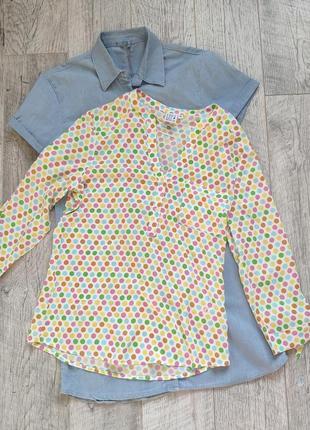 Стильная легкая хлопковая блуза туника