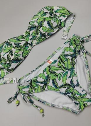 Купальник модный в тропический принт uk 8-10/s