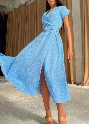 Платье миди женское на запах
