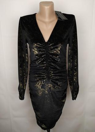 Платье новое шикарное велюровое new look uk 10/38/s