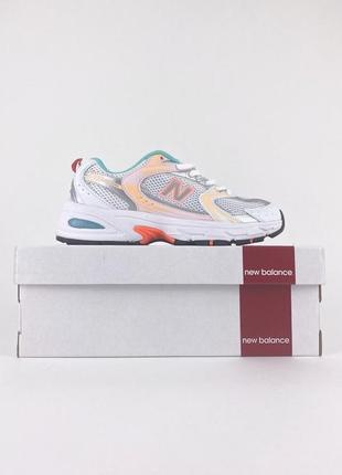 Новые легкие спортивные кроссовки new balance 530 orange mint