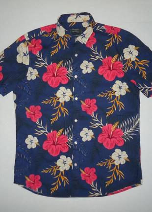 Рубашка  гавайская primark regular fit cotton гавайка (l)