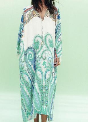 Zara платье туника из вискозы oversize