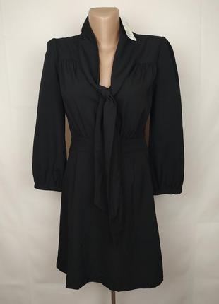Платье новое оригинальное базовое с длинным рукавом h&m uk 10/38/s