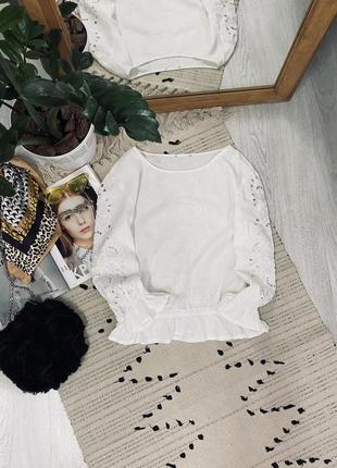 Біла лляна блуза від asos🌿