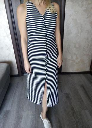 Платье халат в полосочку платье тельняшка на пуговицах