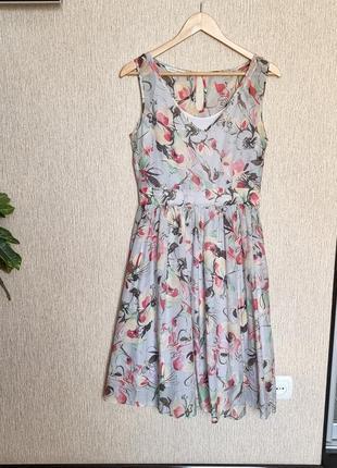 Дизайнерское воздушное платье  от британского бренда laura ashley, оригинал