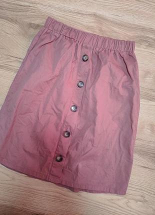 Стильная миди юбка с карманами