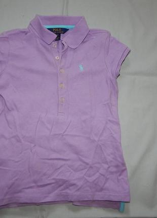 Raulph lauren футболка модная на девочку 7 лет polo оригинал