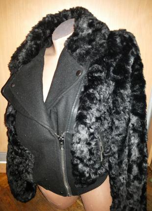 Куртка шубка косуха новая, тёплая warehouse.