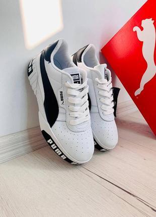 Кеды низкие кроссови пума женские puma cali white/black