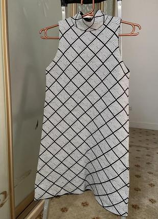 Трикотажное платье zara шерсть