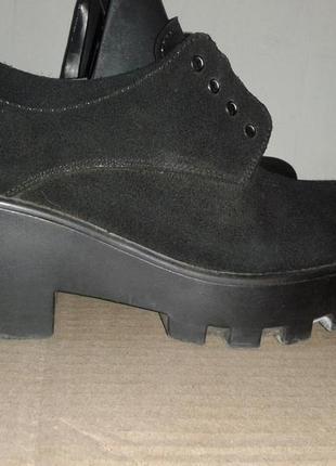 Туфли кожа натуральная на среднем калуке 6,5см платформа 3,5см