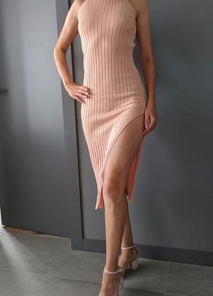 Платье резинка широкий рубчик