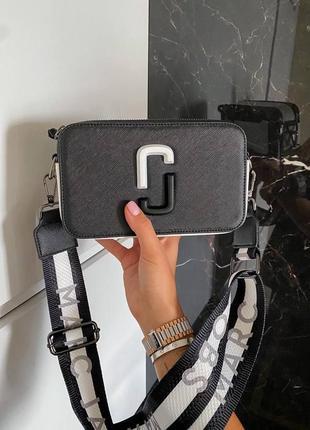 Сумка женская marc jacobs ll черная/белая (марк джекобс, рюкзак, клатч, кошелек, сумочка)