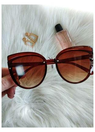 Женские солнечные большие солнцезащитные очки сонцезахисні окуляри