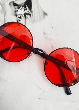 Очки тишейды с шорами красный с черным