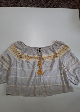 Фирменная легкая натуральная блуза блузка