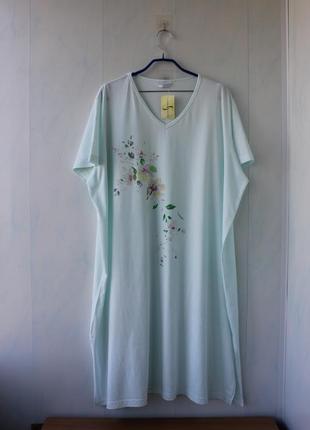 Натуральная ночная рубашка shapely figures, хлопок, батал