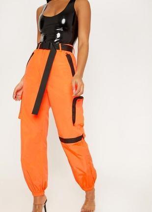 Супер крутые яркие оверсайз джоггеры спортивные брюки карго