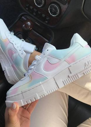 Крутые женские белые разноцветные кроссовки, топ качество