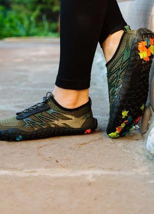 Хаки аквашузы спортивные кроссовки слипоны мокасины коралки