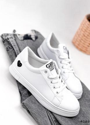 Кроссовки кеды женские lovar белый + черный