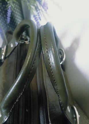 Сумка в стиле шеби шик натуральная кожа7 фото