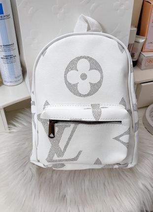 Рюкзак бренд женский белый серый кожаный кола экокожа