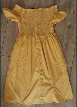 Гірчичне літнє плаття
