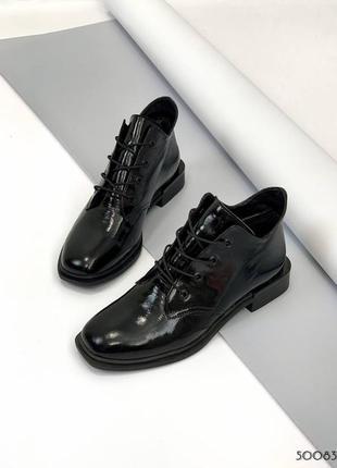❤️ стильные лаковые ботинки