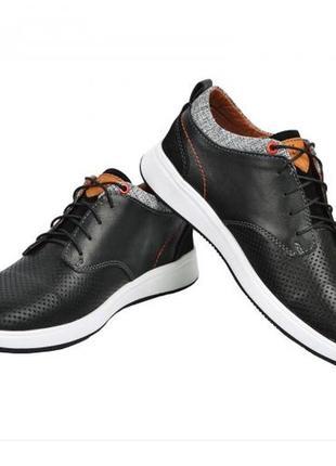 Мужские кожаные кроссовки мокасины