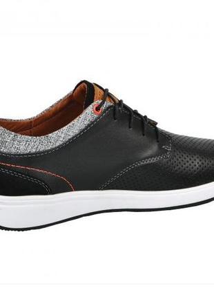 Мужские кожаные кроссовки мокасины3 фото