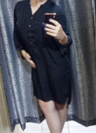 Шелковое платье-блуза