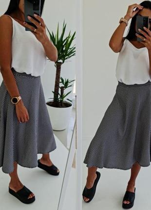 Стильная юбка серая тренд сезона