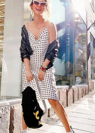 Новое белое платье в горох h&m