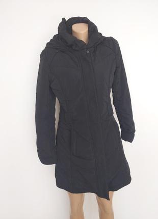 🔥🔥🔥 куртка черная с капюшоном удлиненая приталенная ostin
