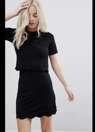 Платье с топом asos, размер s-m