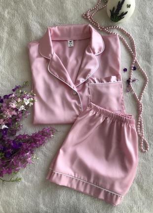 Шелковый комплект рубашка и шорты