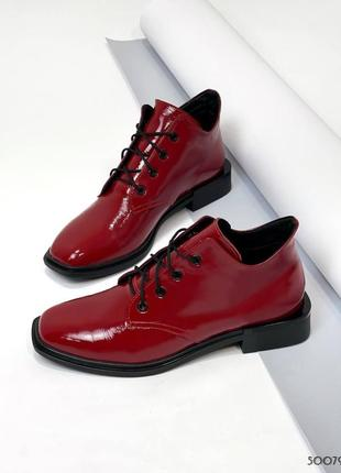 ❤️ шикарные таковые темно-красные ботинки