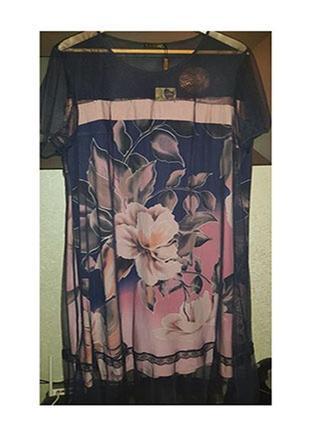 Нарядное платье из вискозы размер 58-60