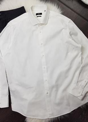 Рубашка хлопковая с длинным рукавом hugo boss
