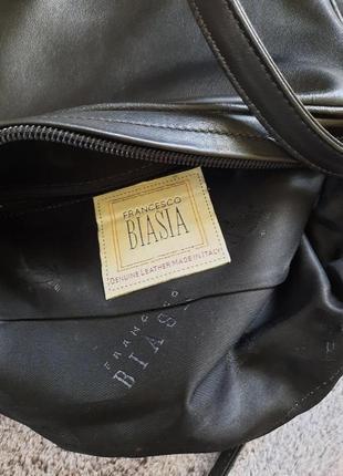 Черная кожаная сумка через плечо кросс боди  francesco biasia3 фото