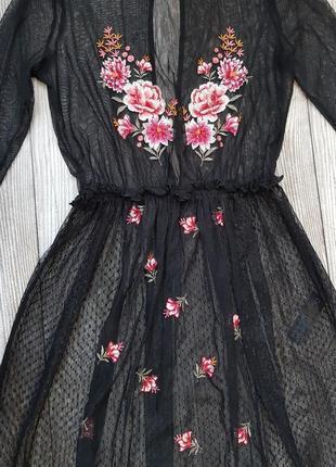Пляжное платье сетка р 44-46