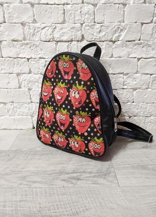🔥🔥🔥 рюкзак с принтом клубникой клубника клубничка